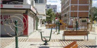 Sevilla instala drenajes sostenibles en parterres en la Avda Asociaciones de Vecinos