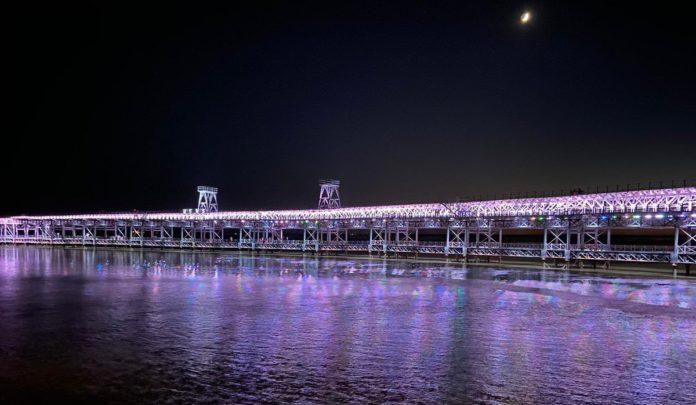 ¿Has ido ya a ver la nueva iluminación del Muelle de Riotinto?
