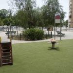 El parque infantil de La Romería, en Cerro-Amate, contará con juegos inclusivos y más arbolado tras su reforma