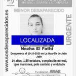 Localizan a Nezha El Fathi, la menor desaparecida en Jaén