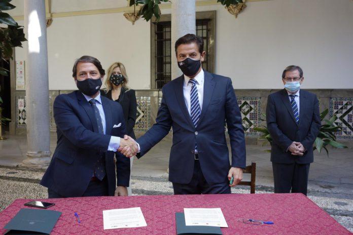 Convenio para el proyecto de Anillo Verde de Granada. / Foto: Ayuntamiento de Granada. / Europa Press.