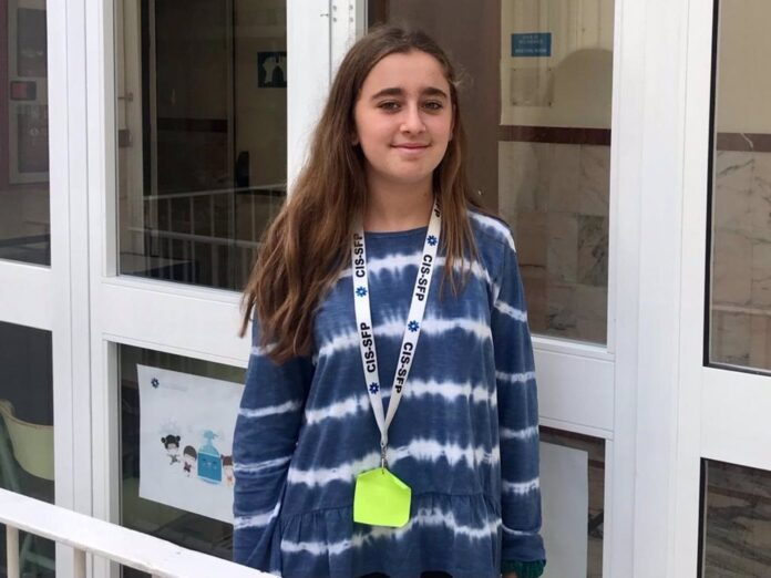 Patricia Martínez Villalba, alumna de Year 8 del Colegio Internacional de Sevilla-San Francisco de Paula. / Foto: Colegio San Francisco de Paula. / Europa Press.