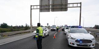 Un choque múltiple en la A-7 en Almería deja solo heridos leves