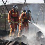 Controlado el incendio en un asentamiento de chabolas de Palos de la Frontera
