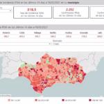22 de las 29 grandes ciudades andaluces sitúan su tasa por debajo de 500 casos