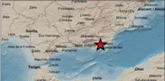 Registran un seísmo de magnitud 2,1 en Almería sin percances
