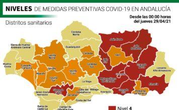 Conoce los nuevos niveles de alerta de los distritos sanitarios andaluces