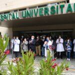 Jaén guarda un minuto de silencio para visibilizar el trabajo de los sanitarios