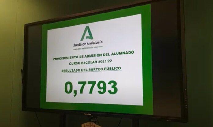 El número 0,7793 resolverá los casos de empate en la adjudicación de plazas escolares