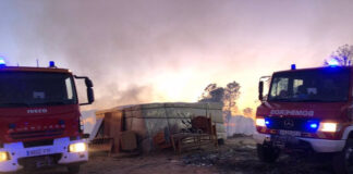 Apuntan a mafias tras los incendios en asentamientos de la provincia de Huelva
