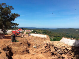 Hallan restos de una posible vivienda islámica junto al Castillo de Cortegana