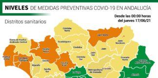 Estos son los niveles preventivos en Andalucía según distritos sanitarios