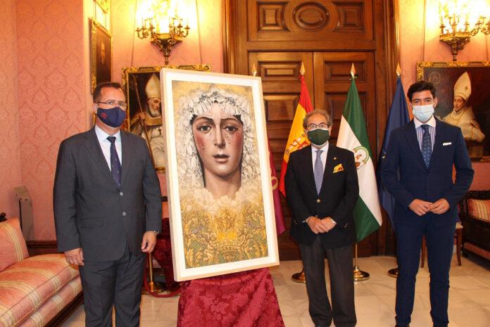 Manuel Peña funde en una imagen a la Macarena y Sevilla