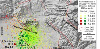 Geólogos aportan nuevos datos sobre el enjambre sísmico de Granada