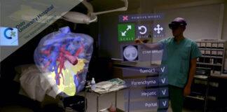 Córdoba emplea un casco-proyector para mejorar la precisión en cirugías de cáncer de hígado
