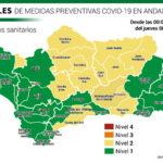 Andalucía actualiza sus niveles de alerta por distritos sanitarios