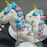 Merengues con forma de unicornio, perfectos para una fiesta infantil