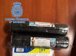 Intenta entrar en España con 3,5 kilos de cocaína en cilindros de plástico y es detenido