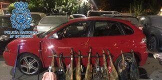 Pillados cuatro jóvenes tras robar varios jamones de un pueblo extremeño