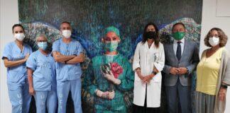 Un mosaico gigante homenajea a los más de 4.000 profesionales del Valme