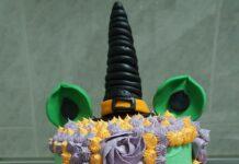 ¡Pastel de unicornio de bruja!